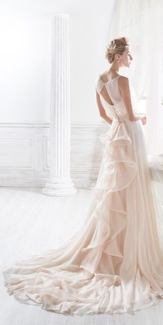 The Nicole Spose 2018 bridal collection no doubt conjures up feelings of graceful goddesses flaunting their beauty to the world. Stunning Wedding Dresses, Beautiful Gowns, Wedding Gowns, Bridal Dresses, Bridesmaid Dresses, Bridal Collection, Marie, Tulle, Queen