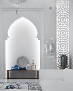 Take a look at these Moroccan Interior Design Ideas for inspiration. Moroccan style living room furniture suggestions that will create an authentic Moroccan feel. Interior Design History, Decor Interior Design, Interior Decorating, Luxury Interior, Arabic Decor, Islamic Decor, Morrocan Decor, Modern Moroccan Decor, Moroccan Lanterns
