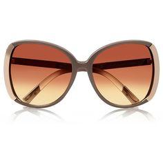 River Island Beige oversized sunglasses featuring polyvore, women's fashion, accessories, eyewear, sunglasses, glasses, oversized sunglasses, lens glasses, over sized sunglasses, river island and oversized eyewear