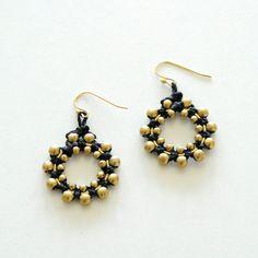 Small Macrame Flower Earrings