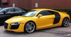 Audi automobile - Bright yellow Audi R8 to Brighten up your Day!