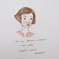 "210 Likes, 1 Comments - naela ali (@naelaali) on Instagram: ""yeah, me too. #amélie"""