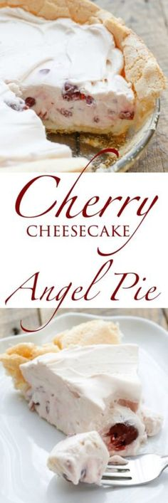 Creamy cherry cheesecake in a meringue crust is a light and fluffy cheesecake dessert that you won't be able to resist. While the crust does require baking, it's the easiest pie crust you will ever make....