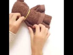 How To Make A Teddy Bear From A Towel - HelloDaycare