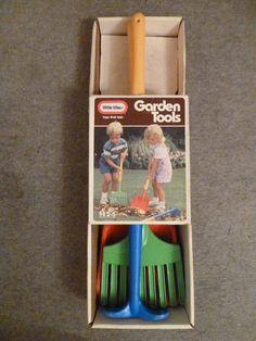 Vintage Little Tikes Quality Toy Garden Tools - Rare Vintage Find #LittleTikes