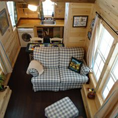 Tiny House Living | Brevard Tiny House--A view of the great room and kitchen...