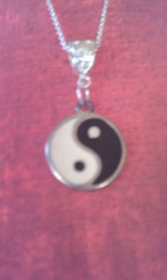 Vintage Ying Yang Necklace on 925 Silver Chain | eBay