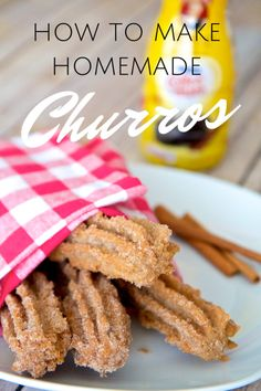 Homemade churros #recipe #mexican - surprisingly simple and easy! via @jeanabeena