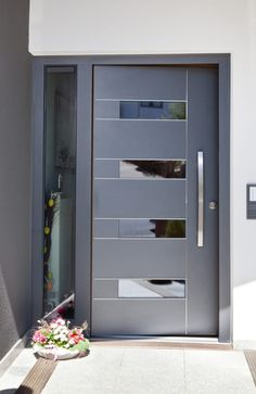 References modern windows & doors from fenster-paul gmbh modern Modern Entrance Door, Main Entrance Door Design, Modern Exterior Doors, Door Gate Design, Room Door Design, Modern Front Door, Door Design Interior, Wooden Door Design, House Front Door