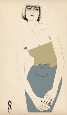 Sandra Suy illustrates Maison Martin Margiela