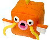 Pokemon Magikarp Magicube Cube Plushie Stuffed Animal kawaii cute square