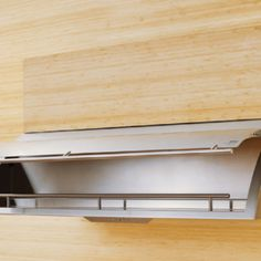 Created by designer Fu-Tung Cheng, the Cache hood from Zephyr features a spacious storage compartment that hides behind the hood's front panel. Besides space for herbs, spices and other cooking needs, the hood also includes a utensil rail for hanging spoons and spatulas. With a hand-burnished stainless steel finish, the Cache hood is available in 30-, 36- and 48-inch widths.