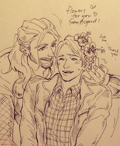 Anyone ever think of Thor and Cap getting together? I don't ship it, but still gotta admit it's cute. :3