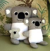 Stuffed Koala Toys PDF Sewing Pattern - via @Craftsy