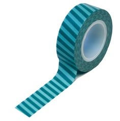 Teal Vertical Stripes Trendy Tape, could be good in September.