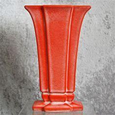 "Cowan Pottery Modernist Vase #V-851, ""Feu Rouge"" Glaze, Circa 1930"