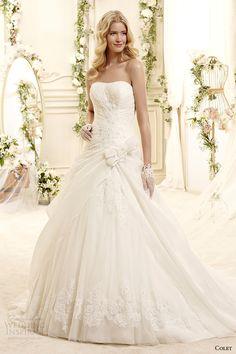 colet bridal 2015 style 26 coab15272iv strapless a line wedding dress draped bodice