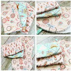 4bbb0328e Baby Burp Cloths - Baby Girl Burp Cloths - Bohemian Burp Cloths - Dream  Catcher Burp Cloths - Feather Burp Cloths - Tribal Burp Cloths