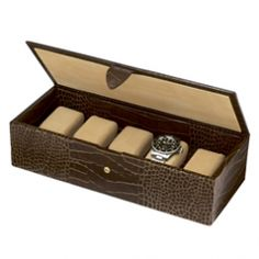 How about something to put his stuff in. This leather watch box from Smythson is luxurious and practical -. Watch Gift Box, Leather Watch Box, 21st Birthday Gifts, Gifts For Him, Unique Gifts, Presents, Watches, Cool Stuff, Kitchen Sink