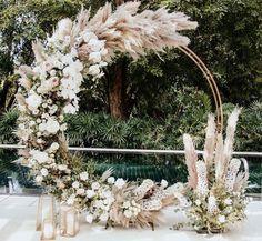 Modern Wedding Backdrop - - - Wedding Reception On A Budget - Burgundy Wedding Boho - Wedding Ceremony Arch, Wedding Stage, Wedding Backdrops, Wedding Ceremony Decorations, Wedding Backdrop Design, Fall Wedding Arches, Rustic Backdrop, Indoor Ceremony, Wedding Trends