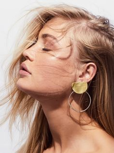 Brass Knocker Hoops | Brass hoops featuring a simple, modern look with a stunning feel.