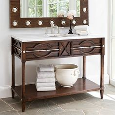Ambella Home - Spindle Sink Chest in Walnut