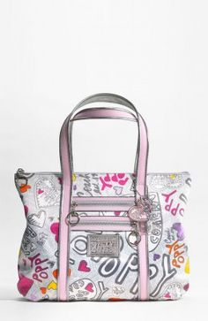630984bc1d3 Today's Cute Carriers feature is this astonishingly pretty tote bag from  Coach's Poppy collection. I