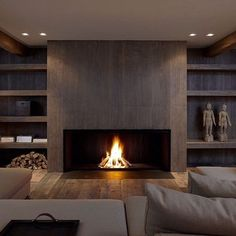 Good Pleasing Symmetry Is Achieved In This Casual Contemporary Country Den. Note  The Width Of The Shelves In Comparison To The Fireplace And The  Continuation Of ...
