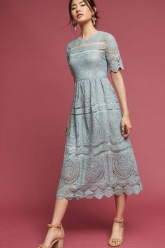 Mint Lace Midi Dress
