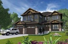 Elevation of Traditional   House Plan 81176