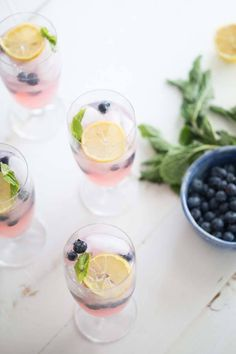 Blueberries steal the show in this easy vodka lemonade.   Fresh blueberries, and blueberry vodka make this lemonade the perfect summer cocktail. lemonsforlulu.com