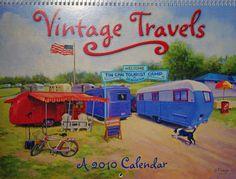front of a 2010 Vintage Travels Calendar.  Love it!