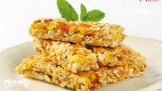 Gyümölcsös kocka   Nosalty Healthy Bars, Healthy Breakfast Recipes, Healthy Foods, Chewy Granola Bars, Breakfast On The Go, Foods To Avoid, Quick Snacks, Tray Bakes, Vegan Recipes