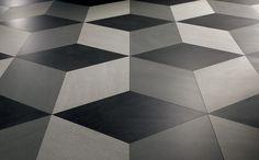 decors cuadra realized with gres porcelain tiles slimtech basaltina stone project - Lea Ceramiche