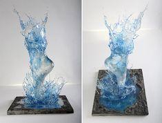 Energetic Resin Sculptures Look Like They're Made of Splashing Liquid Frozen in Time - My Modern Met