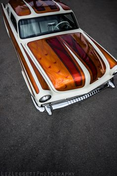 Custom paint on a custom lowrider