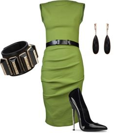 """""""Green Rock-n-Roll"""" by kimberly-woods on Polyvore"""
