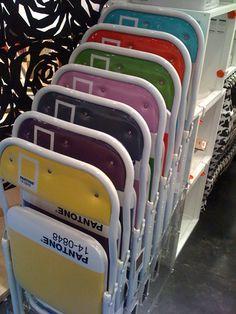 holy lord —pantone folding chairs.