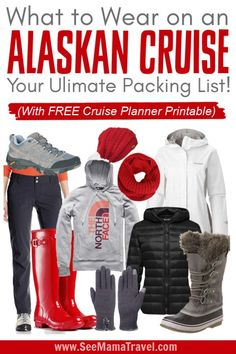 Getting ready to go on an Alaskan Cruise? Be fully prepared with this complete list of what you need to pack for your Alaskan Cruise. From excursions to formal night and outerwear. Get a FREE Cruise Planner printable to make sure you packed everything you Packing For Alaska, Alaska Cruise Tips, Packing List For Cruise, Alaska Travel, Cruise Travel, Cruise Vacation, Alaska Trip, Vacation Packing, Disney Cruise