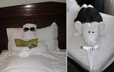 fatti che ci circondano: asciugamano sculture di animali | Asciugamano pieghevole Origami