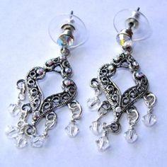 Swarovski Teardrop Earrings at the Shopping Mall, $15.00 (AUD)