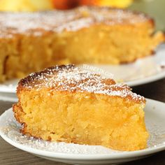 This Italian lemon cake uses almond flour and has a great lemon flavor! Alter for THM
