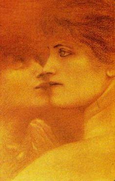 Fernand Khnopff, Estudio de mujeres, 1887.