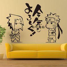 Naruto Uzumaki Uchiha Sasuke WALL STICKERS bedroom Bed Stickers Decal Cosplay
