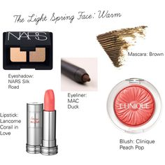 The Light Spring Face: Warm by catelinden on Polyvore featuring beauty…