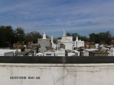 St. Louis Cemetary #1, the final resting place of Voodoo Queen, Marie Laveau & the future resting place of actor Nicolas Cage.