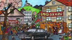 Ladění Rusic. Kalendář který je založen na myšlence, co by kreslil Josef Lada kdyby žil v dobách socialismu. Kalendář bude nástěnný, po měsících, velikost cca A3. Calendar, Life Planner