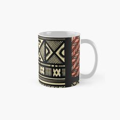 Best Dad Gifts, Cool Gifts, Gifts For Dad, Fathers Day Gifts, Red Mug, African Mud Cloth, Clothing Patterns, Beige, Ceramics