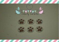 Confeito/ Aplique Pegadas gatinho cachorro açúcar para enfeitar doces.. http://www.elo7.com.br/confeito-acucar-pegada/dp/65252F