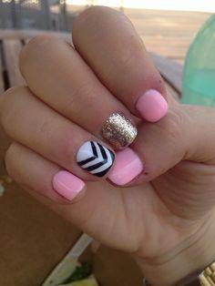 Cute nail designs for short nails 2015 inspiring nail art designs ideas Nail Art Designs, Pretty Nail Designs, Short Nail Designs, Simple Nail Designs, Nails Design, Ongles Bling Bling, Bling Nails, Cute Short Nails, Short Nails Art